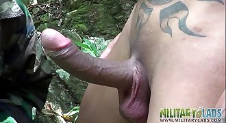 Anxious bootie mouth fucked in the jungles