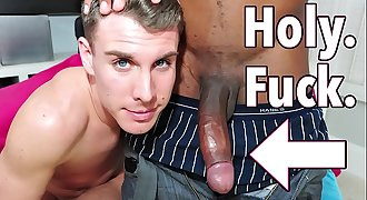 GAYWIRE - Trace Kendall Samples Izzy's Big Black Dick on It's Gonna Hurt!